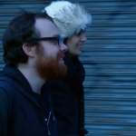 weev and Sara Jafary walk to courthouse  minutes before sentencing